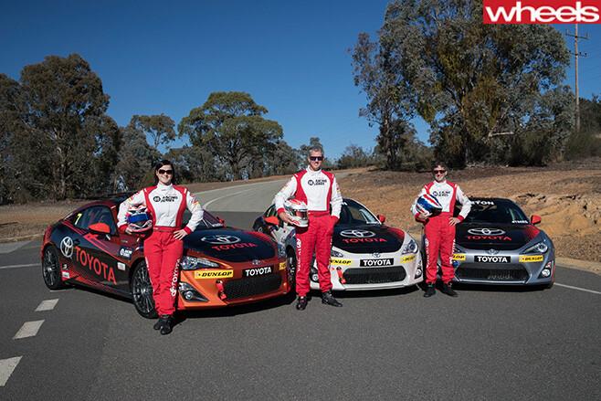 Glenn -Seton -standing -with -racing -car -driver-