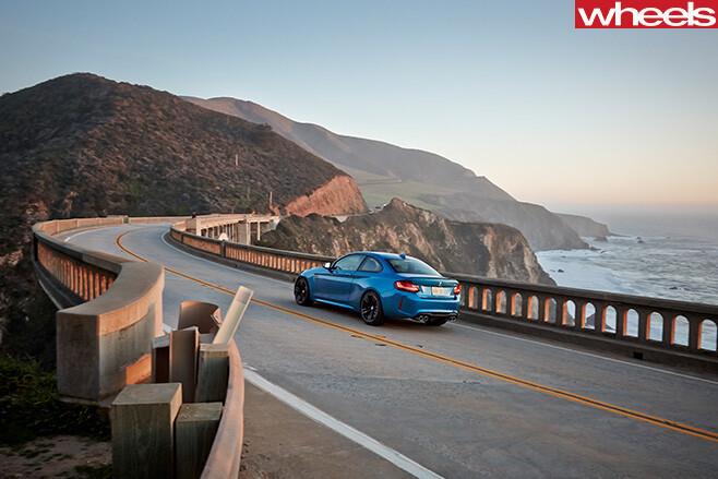 BMW-M2-driving -rear