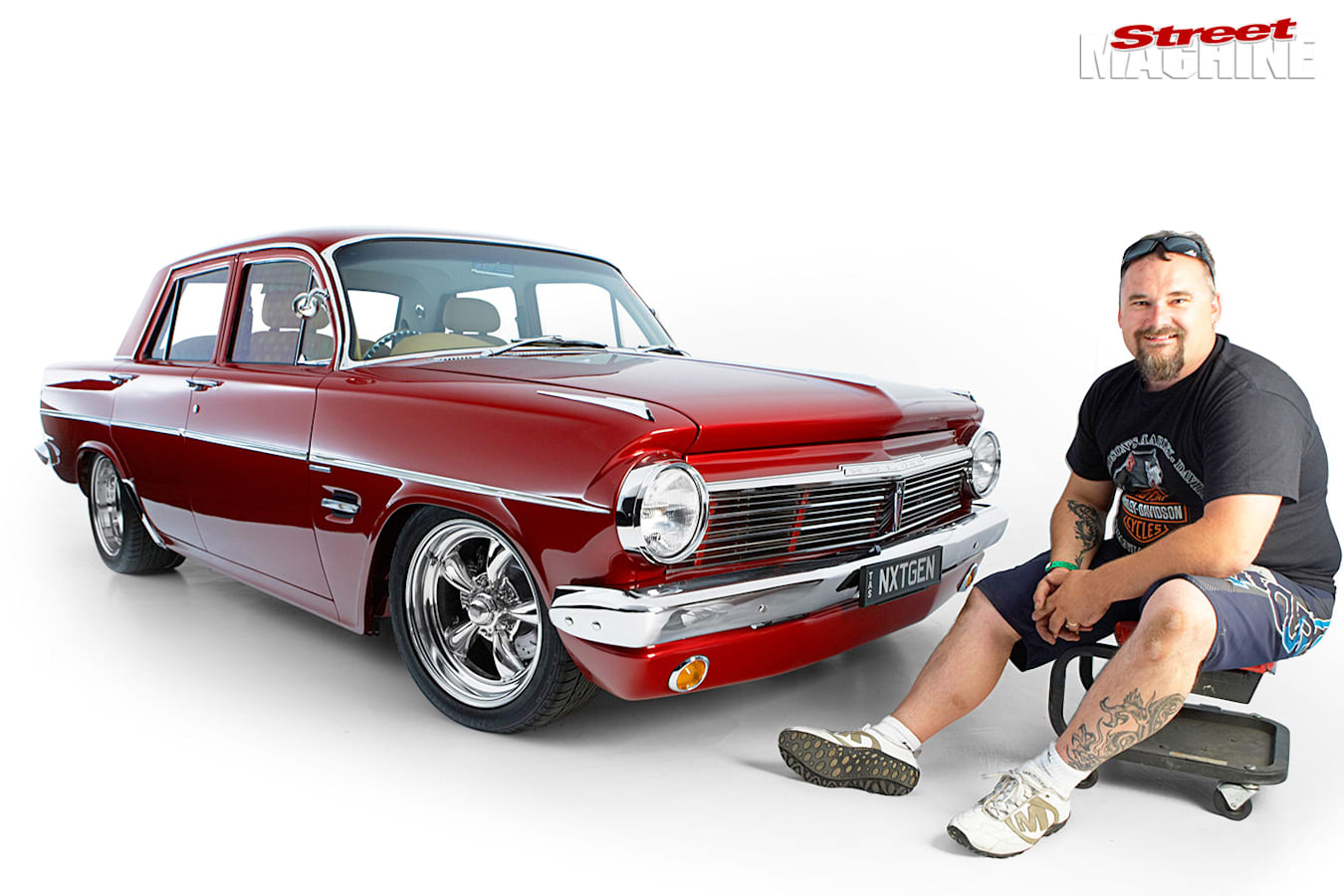 Ricky Absolom and his Holden EH