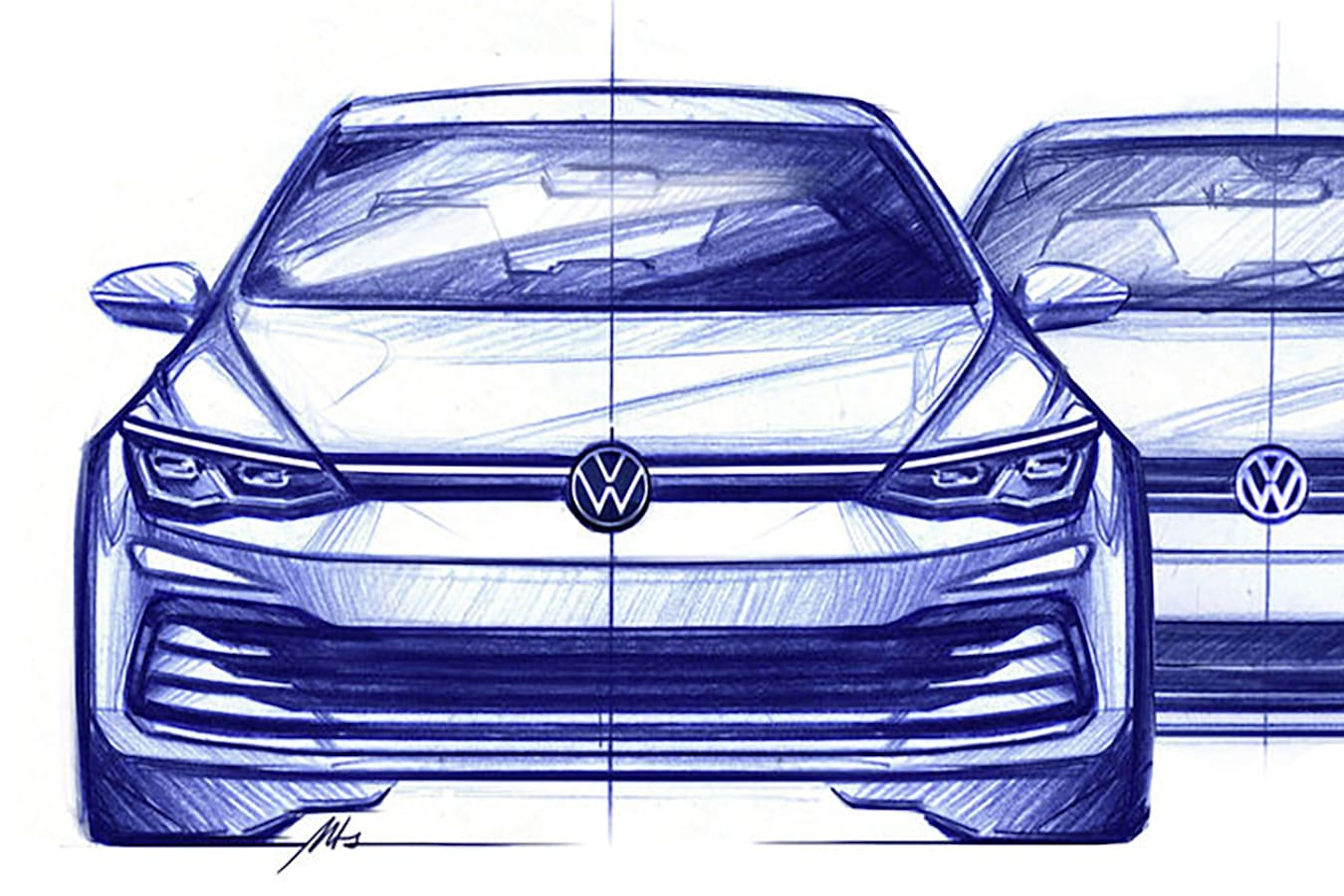 New Volkswagen Golf MK8 Sketches