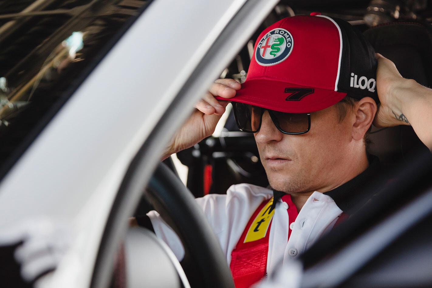 Kimi Raikkonen tests Alfa Romeo Giulia GTA