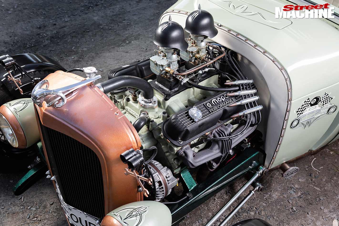 five window coupe engine