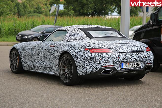 Mercedes -AMG-GT-roadster -driving -rear -side