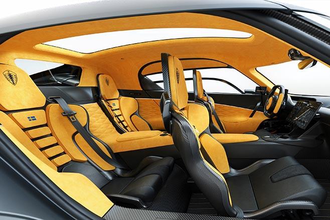 Koenigsegg Gemera interior