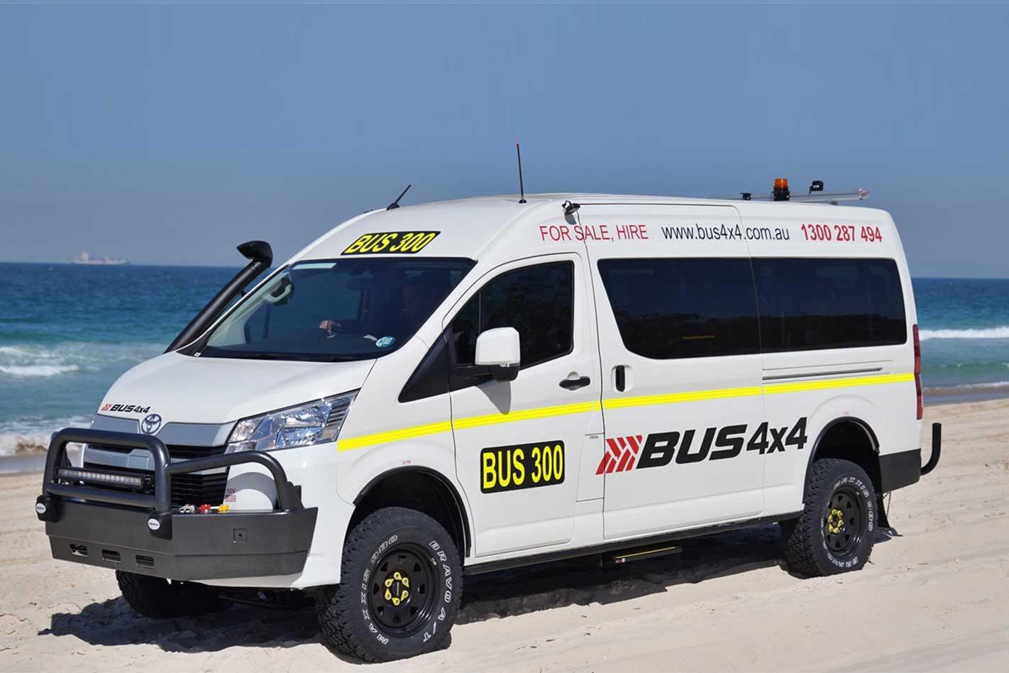 Bus 4x4 Toyota HiAce Commuter 4x4 conversion