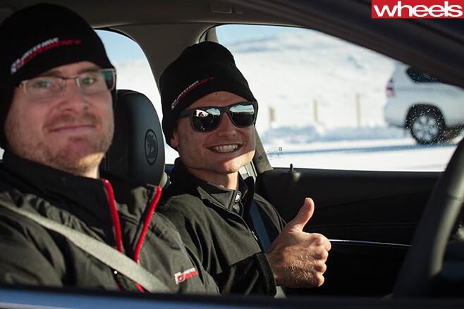 Damion -Smy -with -Tim -Slade -v 8-supercar -driver