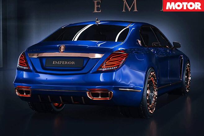 Mercedes Maybach S600 emperor rear