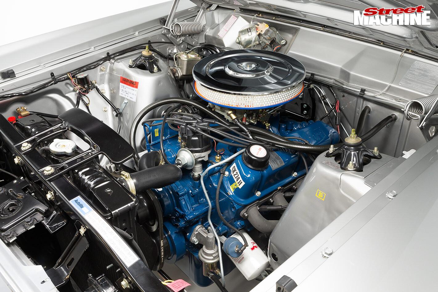 Ford Falcon XW GS panel van engine bay