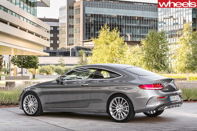 Mercedes -C-Class -Coupe -rear -side