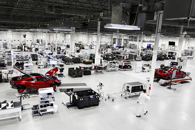 Honda NSX Factory floor