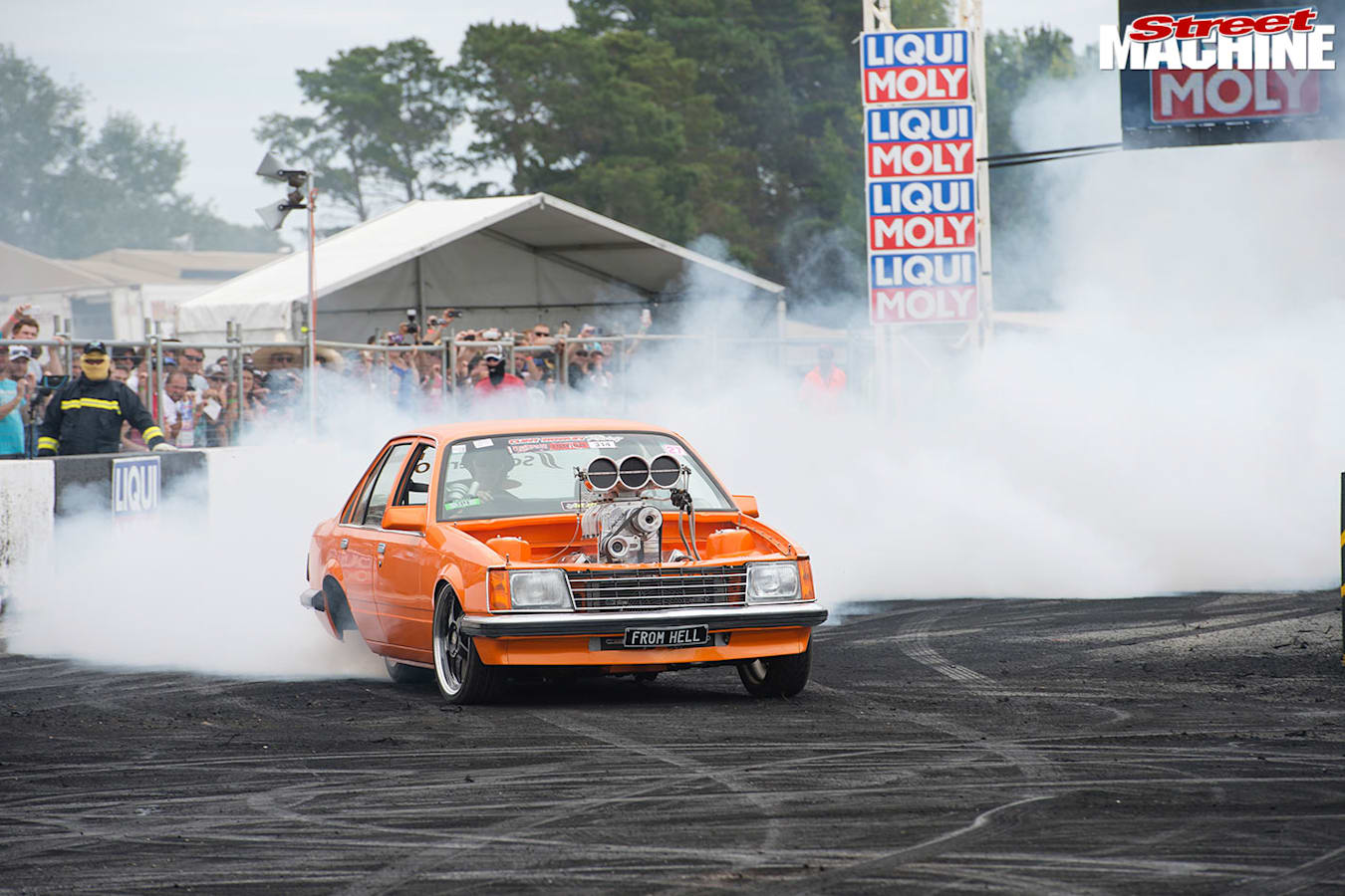 Holden VC Commodore burnout
