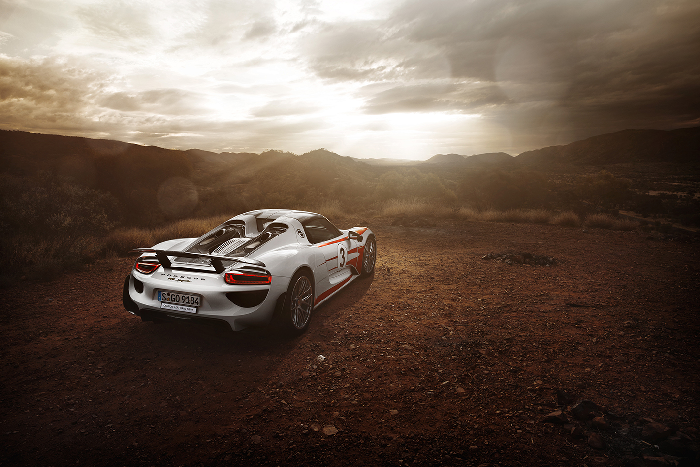 Porsche 918 in the outback
