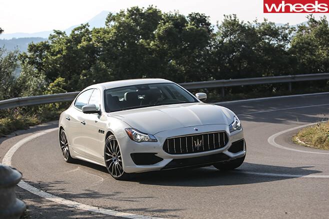Maserati -Quattroporte -driving -corner -front -side