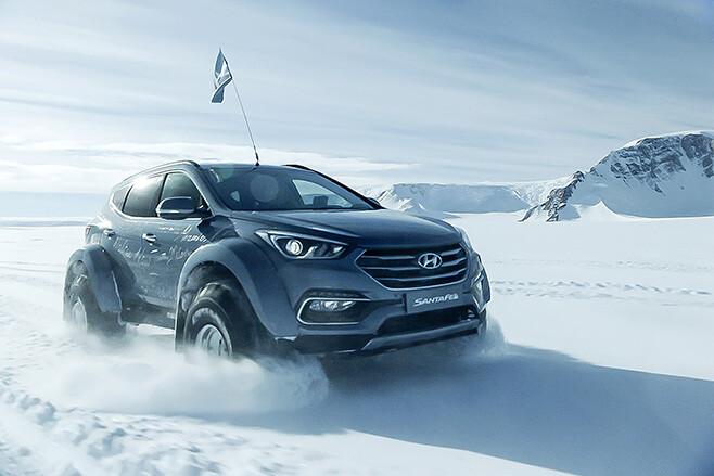 Hyundai Santa Fe antartica ice
