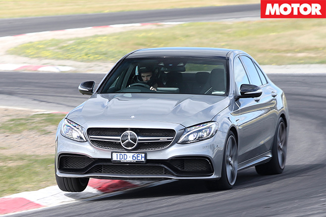 Merc-AMG C63 coupe driving