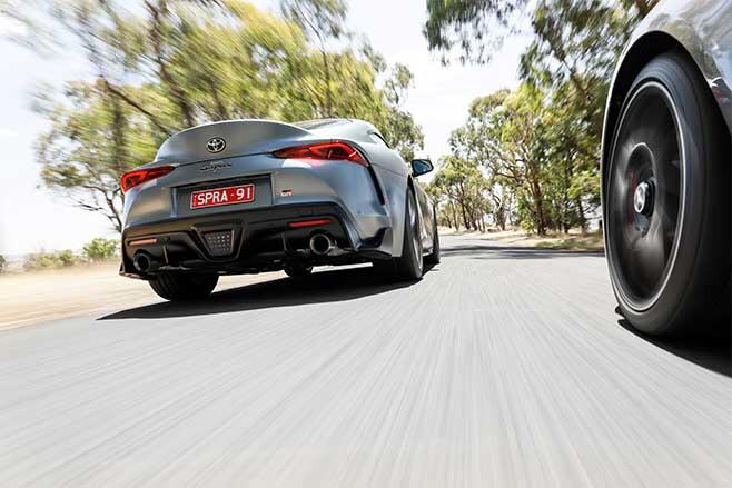 At higher speeds the Supra has a slight advantage