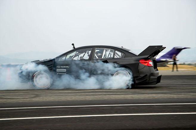 Travis Pastrana Gymkhana Subaru WRX STI wing