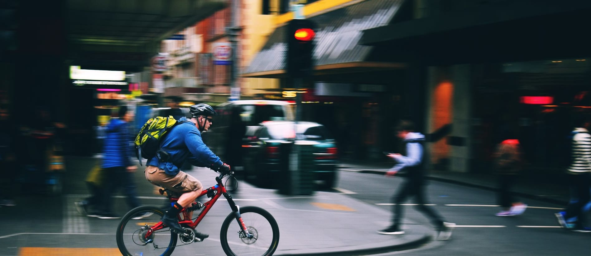 Cyclist in Melbourne
