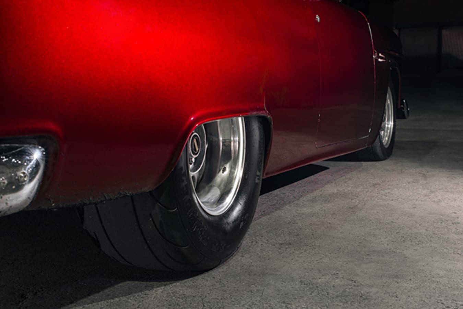 Chev Bel Air rear wheel