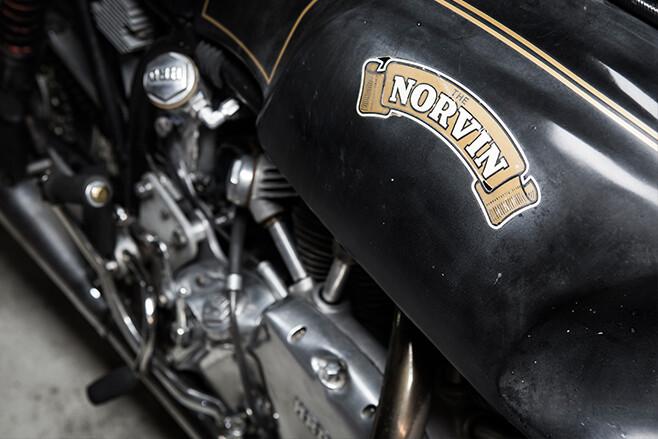 Norvin motorcycle tank