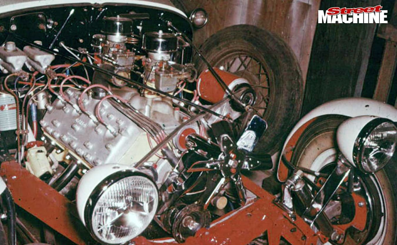 Ford Roadster engine bay