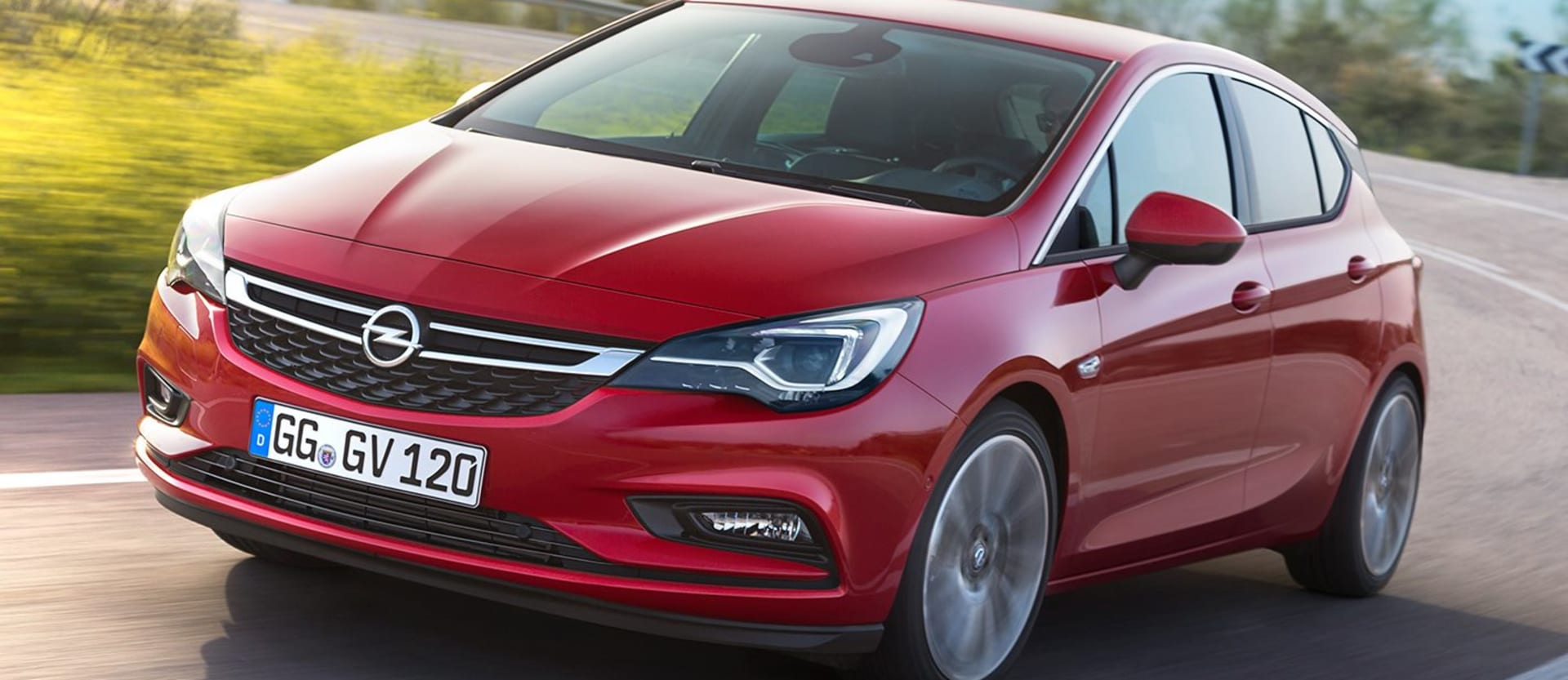 Red Opel Astra Front Side Jpg