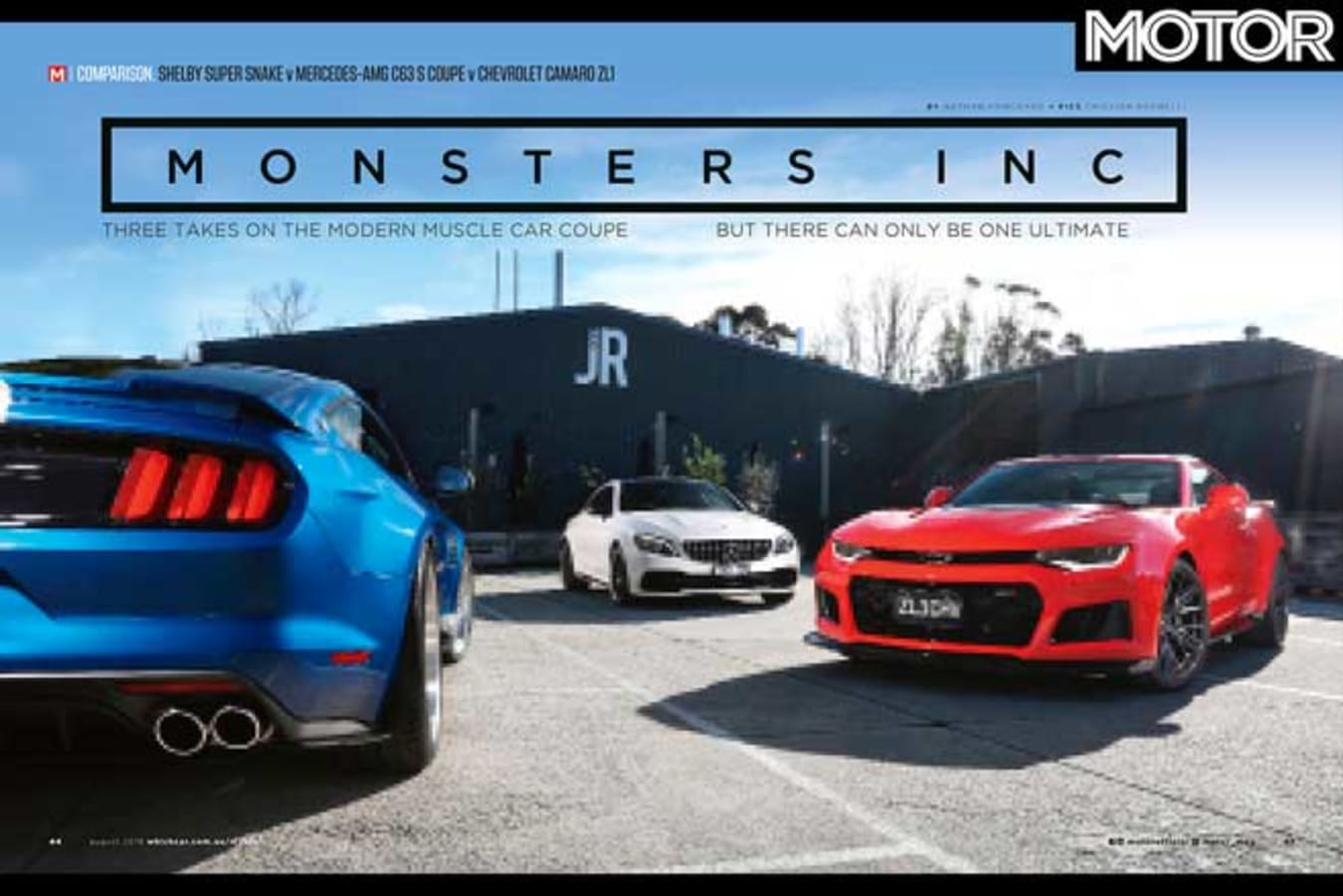 MOTOR August 2019 Issue Preview Super Snake Camaro ZL 1 AMG C 63 S Comparison Feature Jpg