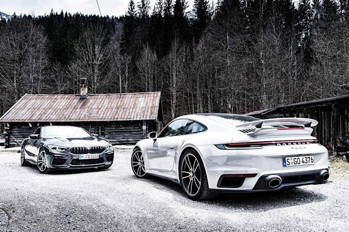 BMW M8 Competition v Porsche 911 turbo S comparison