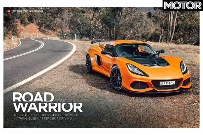 MOTOR Magazine October 2019 Issue Lotus Exige Sport 410 Driven Jpg