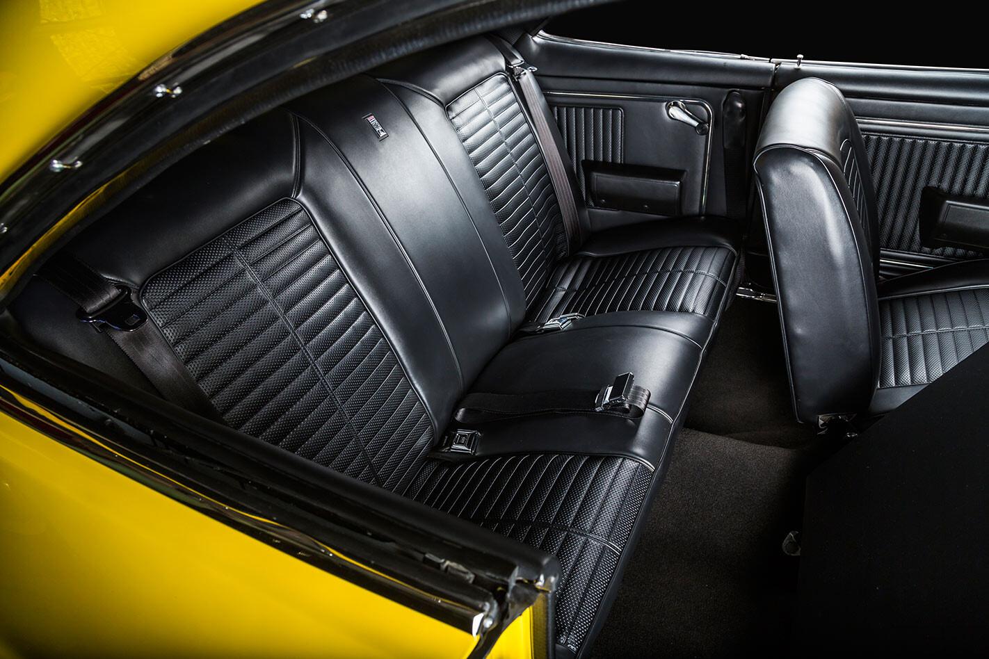Holden HK Monaro interior rear