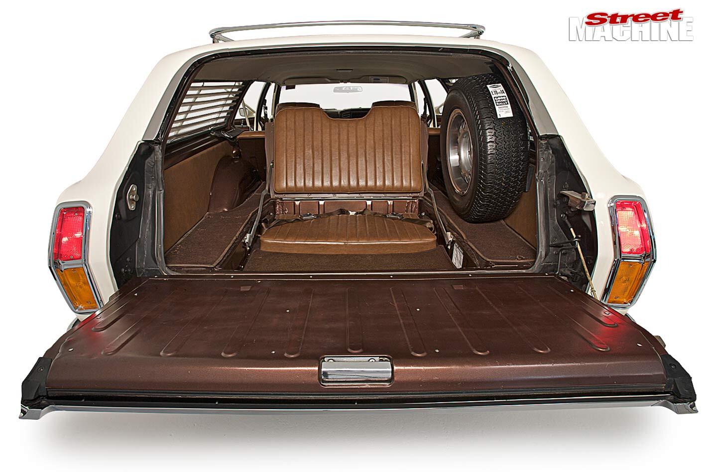 Ford Falcon XB wagon interior rear