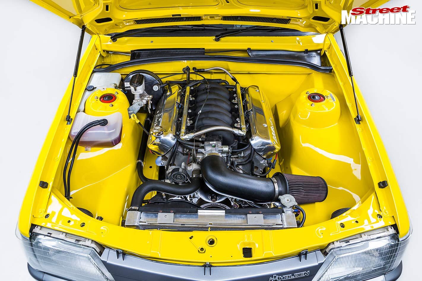 Holden VK Commodore engine bay