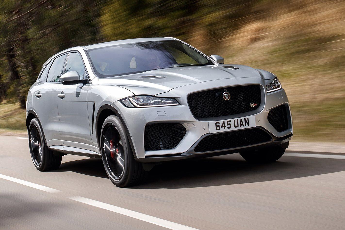 2019 Jaguar F Pace SVR Front Action Jpg