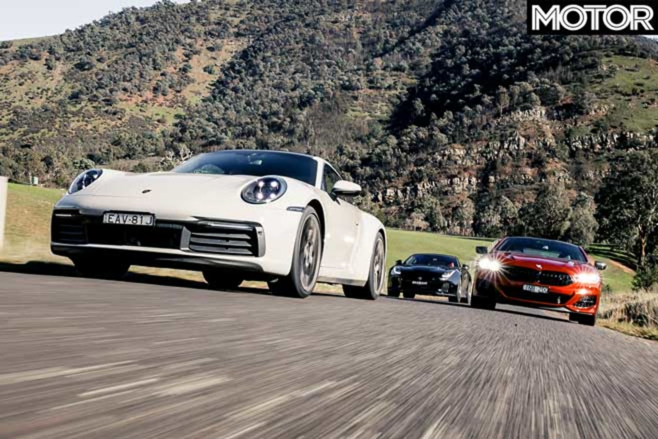 2019 BMW M 850 I Vs Porsche 911 Carrera 4 S Vs Jaguar F Type SVR Comparison Performance Jpg