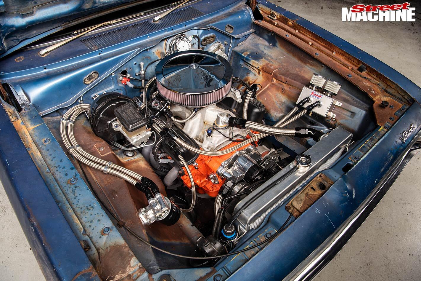 Chrysler VH Valiant engine bay