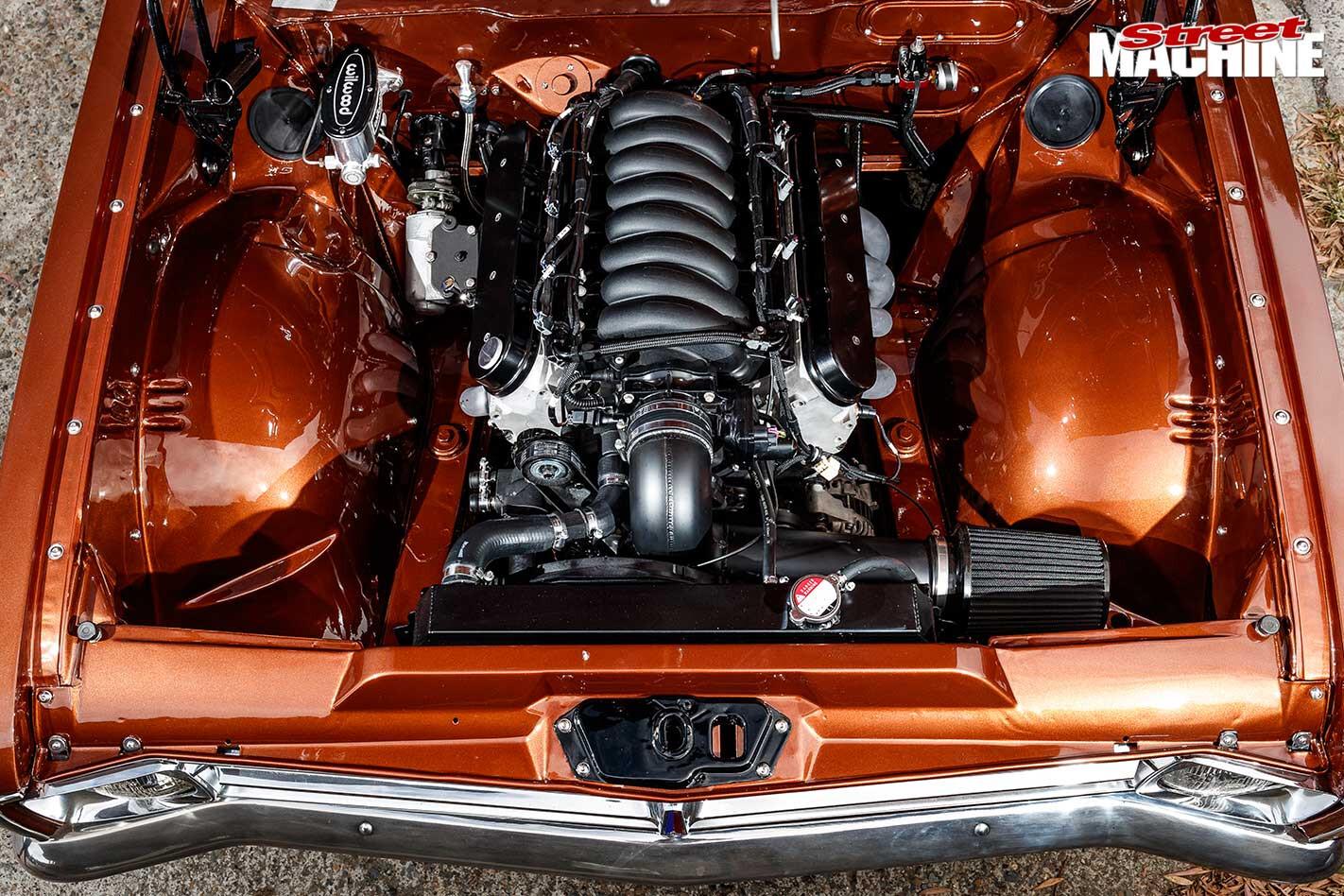 Holden HK Kingswood engine bay