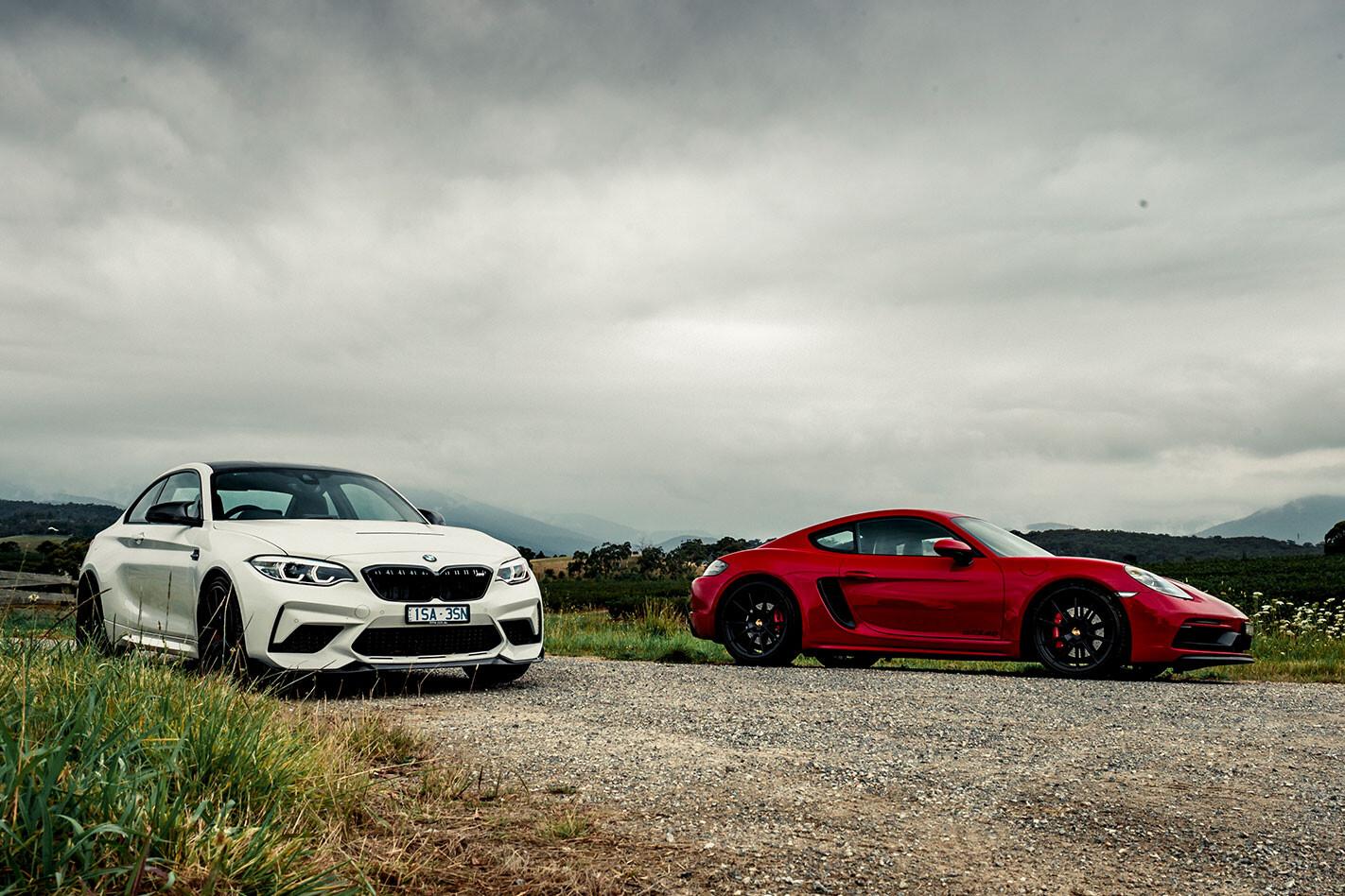 2021 BMW M2 CS vs Porsche Cayman GTS 4.0 comparison