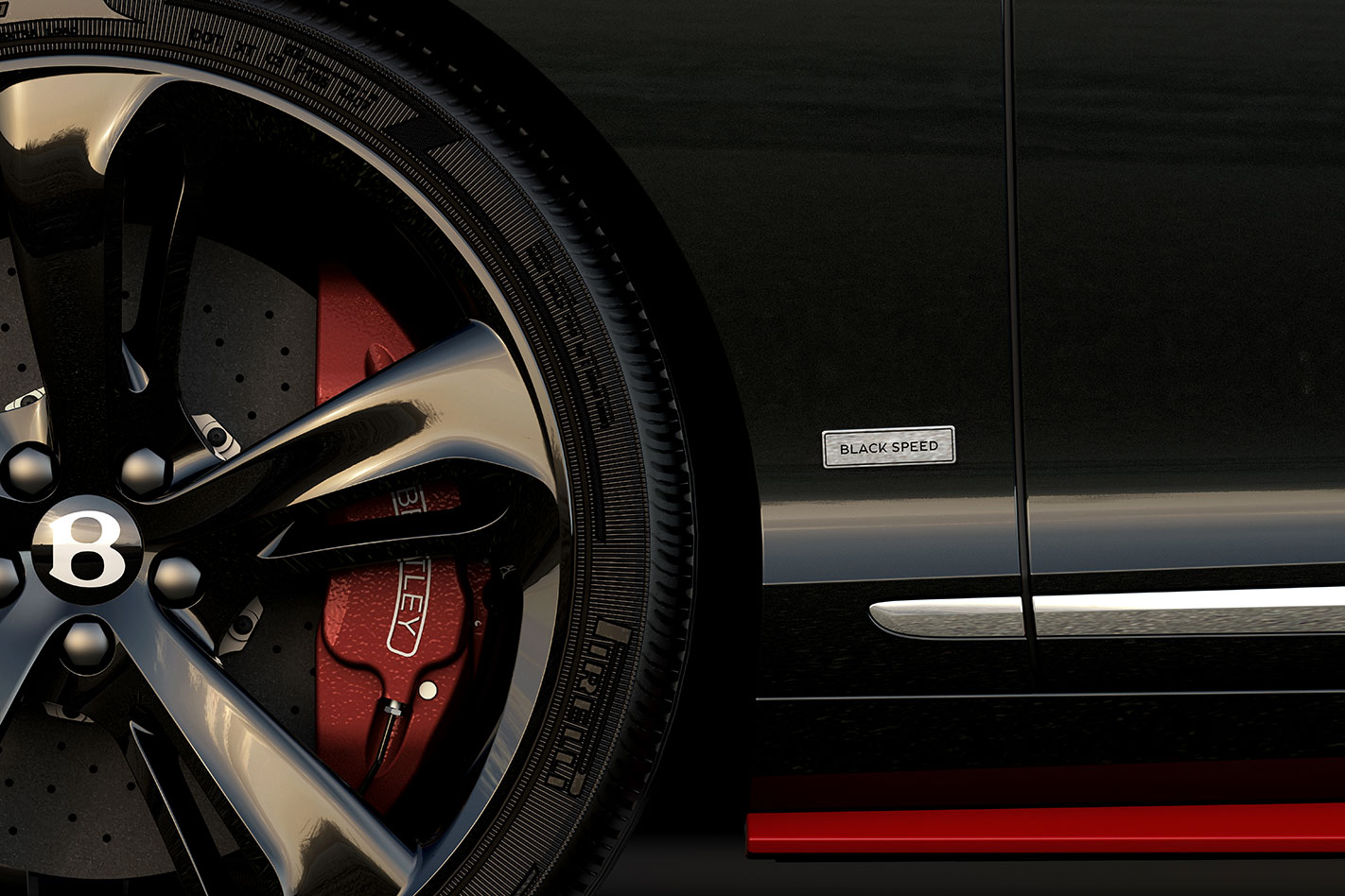 Bentley -Continental -GT-Black -Speed -wheel