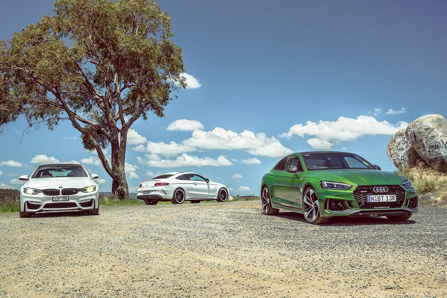 2018 Audi RS5 v BMW M4 Pure v Mercedes-AMG C63 S