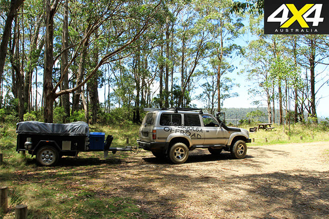 Parking and camping areas