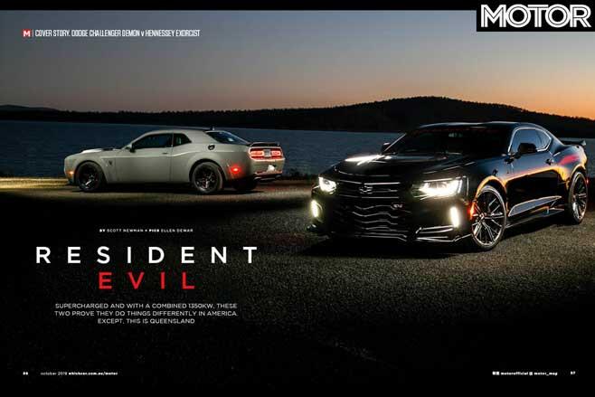 MOTOR Magazine October 2019 Issue Dodge Demon Vs Hennessey Exorcist Camaro Jpg
