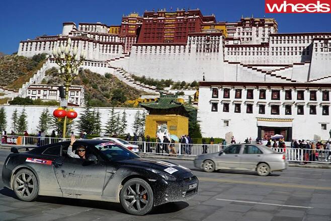 Nissan -GT-R-driving -through -China