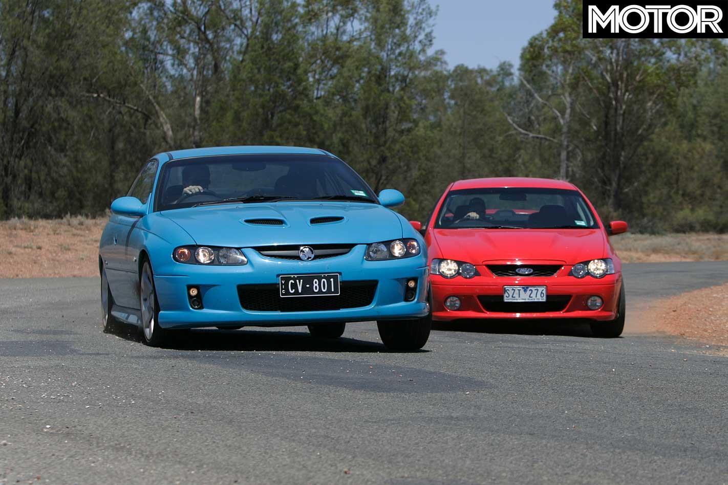 All Aussie Showdown 2005 Holden Monaro CV 8 Vs Ford Falcon XR 8 Comparison Jpg