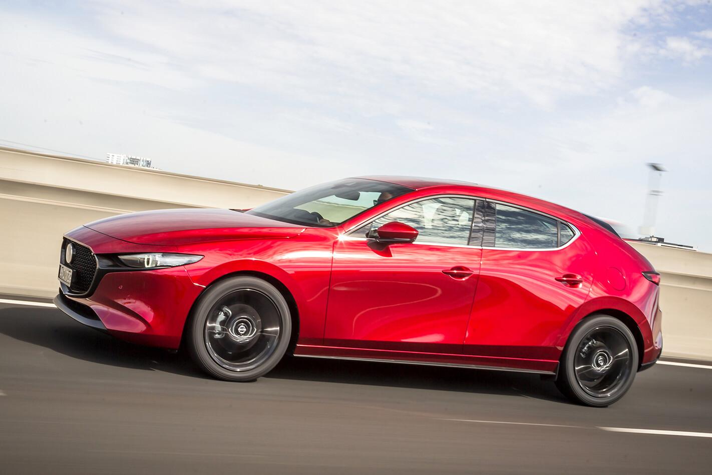 2019 Mazda 3 Astina Front Side Action Jpg