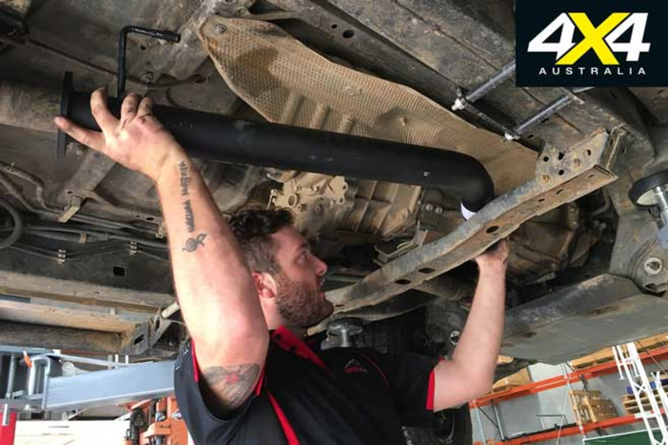 Toyota Hilux 4 X 4 Shed Exhaust Installation Jpg