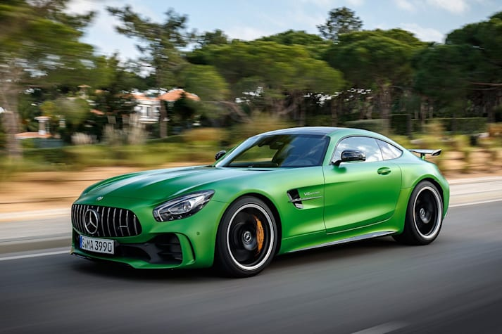 2017 Mercedes AMG GT R Driving Front Jpg