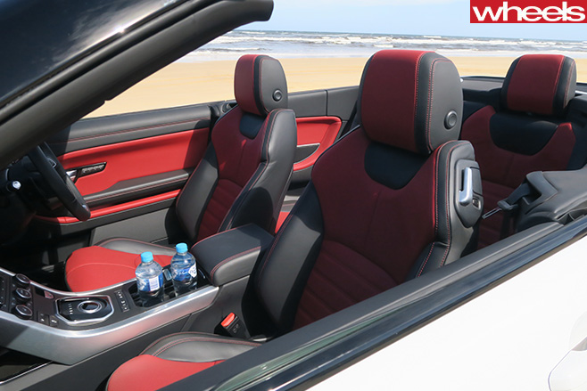 Range -Rover -Evoque -convertible -roof -down