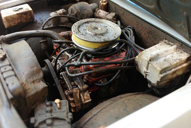 model car engine bay