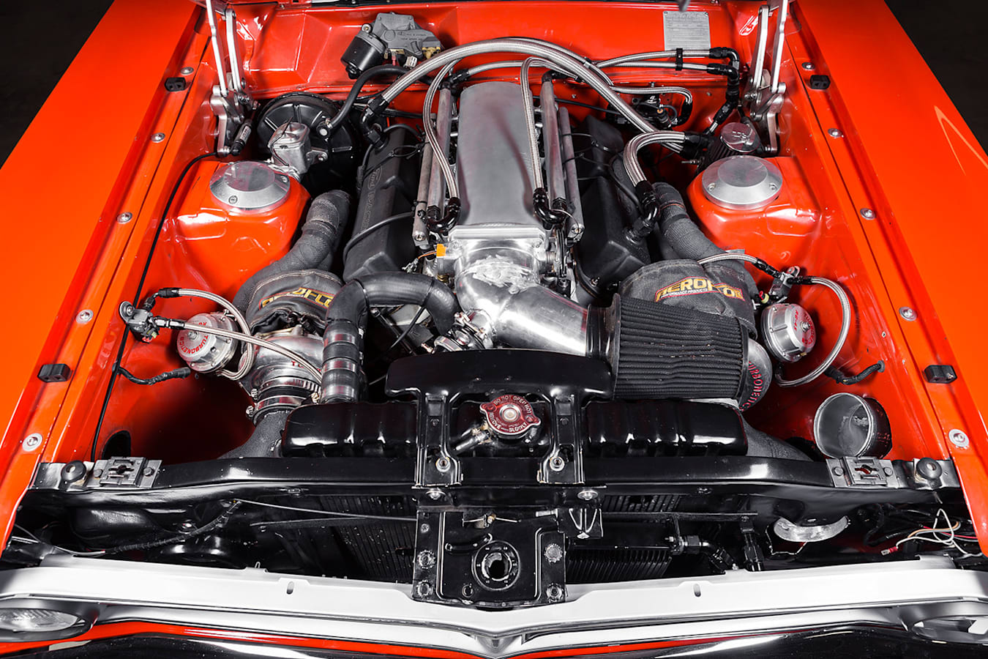 Ford Falcon XW ute engine bay