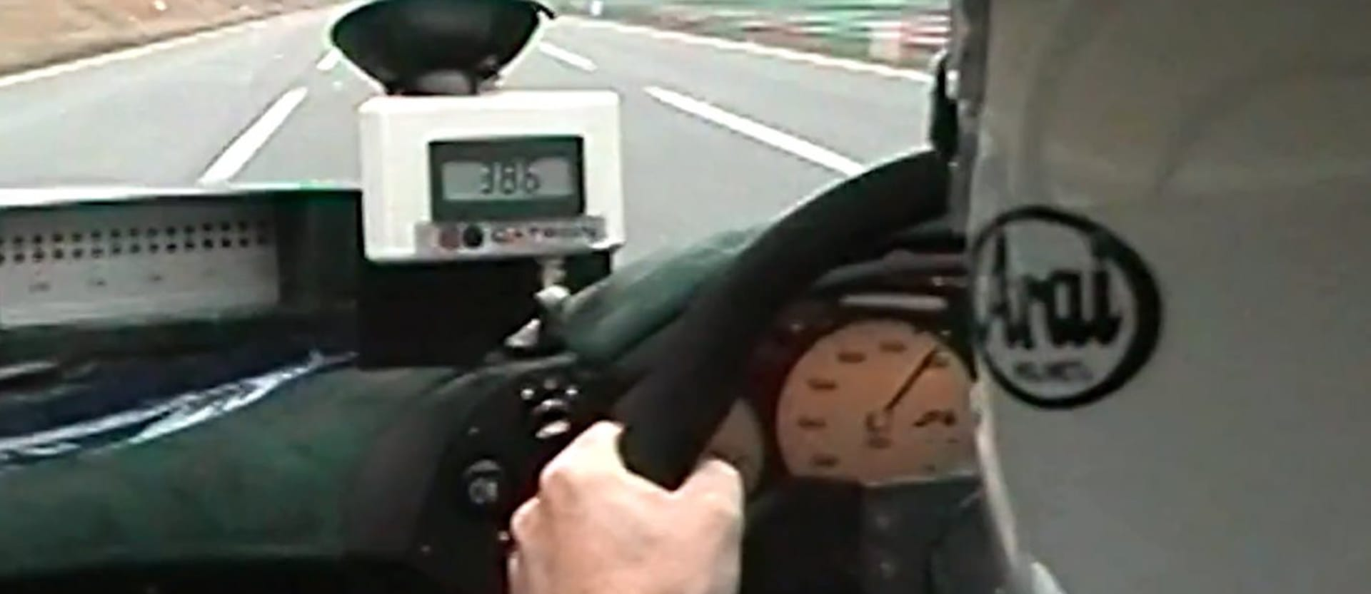 The McLaren F1 sets a production car speed record